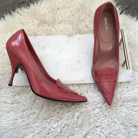 1517041d7c5c MIU MIU pink stilettos size 36.5 pointed toe